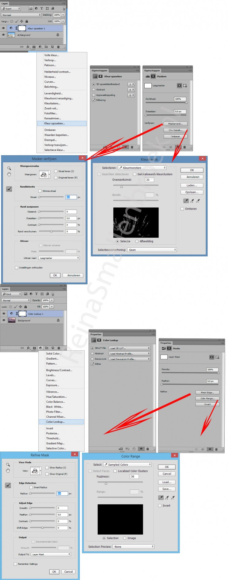Photoshop menu venster window cc2015 - Kleur opzoeken ...