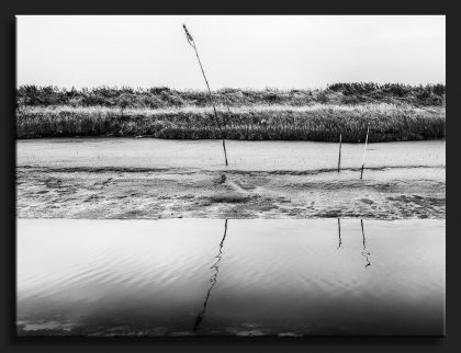 De Geul Noordpolderzijl - Layers in Black and White