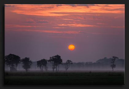 Sandebuur in de mist - Sunrise in the fog